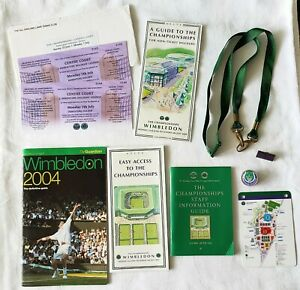 Wimbledon Tennis Championships memorabilia tickets badges staff book 2004 2008