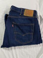 Levis 501 Premium Denim Jeans Big E 38x34  XX  Leather Patch EUC