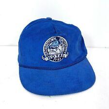 Vintage Corduroy Georgetown University Blue Hat Snapback Hoyas College 1789