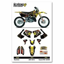 2001-2017 SUZUKI RM 125-250 TEAM ROCKSTAR Dirt bike Graphics kit by Enjoy MFG