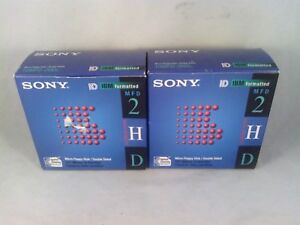 Sony 2HD IBM Formatted Diskettes 1.44 MB 3.5'' 1 full 10 pack & 1 partial 8-pack