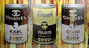 Chanel Soup with Coco and Karl POP ART Original Print on Aluminum