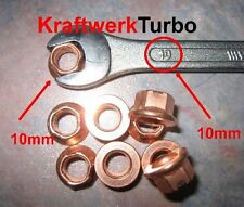 10x M8-1.25 Copper Exhaust Nuts 10mm (!!!) head wrench size - fast Michigan ship