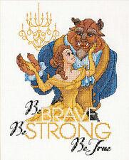 Cross Stitch Kit ~ Disney Princess Belle Beauty and the Beast Be Brave #70-35358