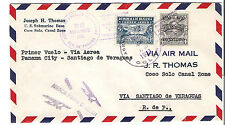 Panama M70a Variety Internal Airmail First Flight Cover