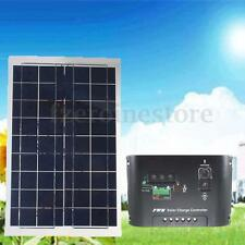 30W 12V Semi Flexible Solar Panel Battery Charger + 10A 12V/24V Solar Controller