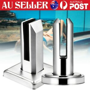 Round Square Stainless Steel Spigots Glass Pool Fence Balustrade Post Spigot AU