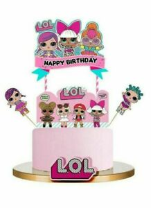 LOL SURPRISE  Themed Cupcake Birthday Cake Topper Party Supplies Decoration UK