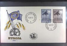 Belgium 1957 FDC 1070-71c Union Europa Cept