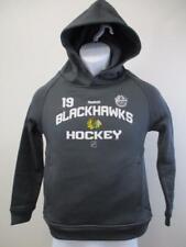 New Minor-Flaw Blackhawks #19 Johnathan Toews Youth Size M-L Hoodie