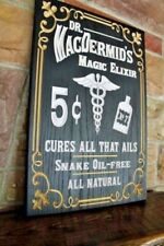Vintage Elixir Sign Personalized Carved Wood Sign Snake oil Rustic Plaque Signs