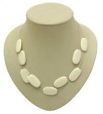 Beaded Jewellery Design 12734 White Beaded Multi-strand Necklaces