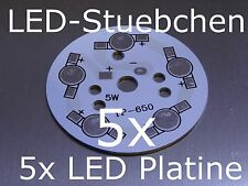 5x 5 LED High-Power Rundplatine