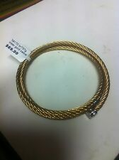 STAINLESS STEEL GOLD CABLE BRACELET.        (800)