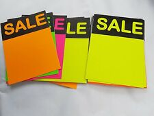 30 x neon flourcent sale stars flashes price display tags lebels 11 cm x 8cm