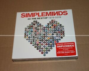 SIMPLE MINDS --  40 : THE BEST OF 1979 - 2019 3 CDs --  DELUXE EDITION -- NEUF