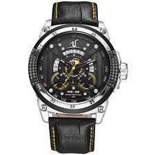 Sportuhr Herrenuhr Marken Leder Armbanduhr Quarz Uhr Analoguhr Wasserdicht Neu