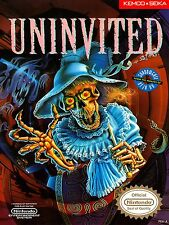 Uninvited NES Video Game High Quality Metal Magnet 3 x 4 inches 9180