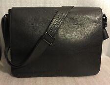 NEW Hugo Boss Buffalo 2 Black Leather Crossbody Shoulder Messenger Men's Bag