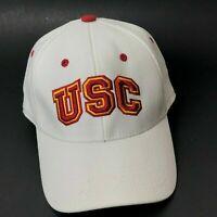 USC TROJANS WHITE ONE-FIT FLEX FIT HAT CAP SIZE M/L