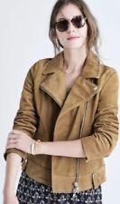 Madewell Moto Suede Jacket Tan Women's Sz Med NWOT