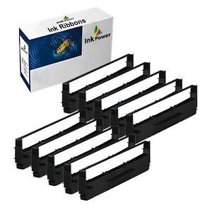 10 Black Ribbon For Epson LQ510 LQ550 LQ570 LQ800 LQ850 LQ850 LQ870 ERC800 B