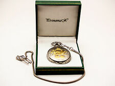 """Primemax:""""Columbus Ship 500Th Anniversary"""" Pocket Watch,Gd/Sil Finish,With Chain"""