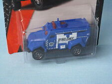 Matchbox Police Rescue Emergency Riot Swat Vehicle Blue A12 USA Toy Model Car
