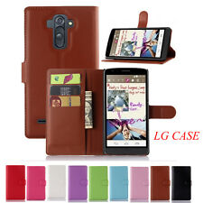 2017 Litchi Texture  Leather Wallet Card Holder Flip Cover Stand case For LG