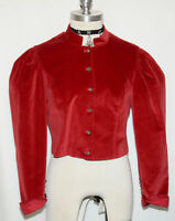 RED COTTON JACKET Austria ELEGANT & CLASSY Short Christmas Holiday Dress 6 S