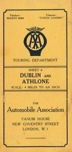 Batholomew's AA Quarter Inch Map of Ireland DUBLIN and ATHLONE Sheet 6 1950's