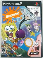 Nicktoons Movin' - Complete w/ Manual - Sony PlayStation 2