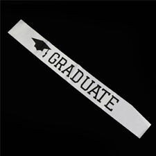 1Pc Graduated Satin Sash Graduate Gift Celebration Party Photo booth Props FT