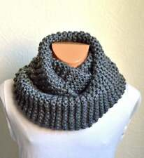 Hand knitted men's merino wool snood scarf