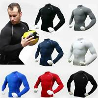 New Mens Compression Under Base Layer Top Skin Tight Long Sleeve T-Shirts Sports