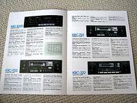 Kenwood 1982 car audio full product line brochure