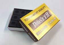 Pool Snooker Billiard Cue Tip Table Chalk *BLACK* 1 BOX 12 Blocks in the Box