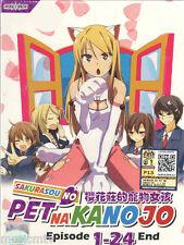 DVD Sakurasou No Pet Na Kanojo ( Eps 1-24 End ) English SUB + Free Gift