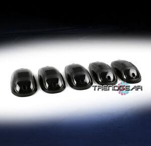 5PCS DARK SMOKE CAB ROOF LIGHTS LAMPS FOR FORD F150 F250 F350 SUPER DUTY RANGER