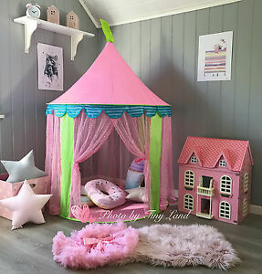 Play Tent & Carry Bag  Play Tipi Childrens Kids Playhouse Indoor Outdoor Girl