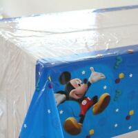 Large Mickey Mouse Tablecloth Table Cover Kids Birthday Party Supplies Theme