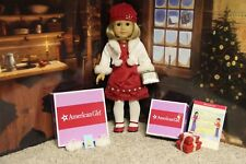 """American Girl 2008 """"Scarlet & Snow & Holiday Gift SET """"-COMPLETE-MINT (NO BOX)"""