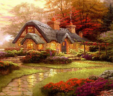 Thomas Kinkade cottage Color Cuadro De Punto De Cruz