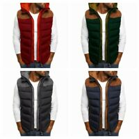Padded Jacket Vest HOT Men's Warm Sleeveless Hood 520 Quilted Warmer Body Coat