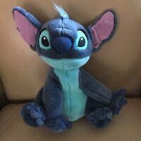 "Disney Store Stitch Blue Stuffed Animal 14"" Plush LILO & Stitch Soft Toy"