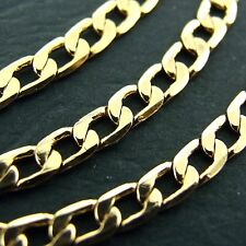 G/F Gold Solid Curb Link Design Necklace Pendant Chain Genuine Real 18k Yellow