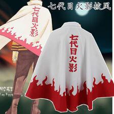 Naruto Uzumaki Naruto12 Hokage Cosplay Costume Halloween Cloak Unisex Outwear