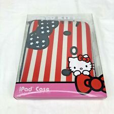 Hello Kitty American Flag iPad Case Fits All Generations Red White Blue Sanrio