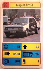 Cuarteto tarjeta individuales-Peugeot 309 GT-art.nr.460