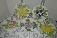"Vintage Shafford Fruit Du Jour Plates - 8"" Set of 5 - 1987"
